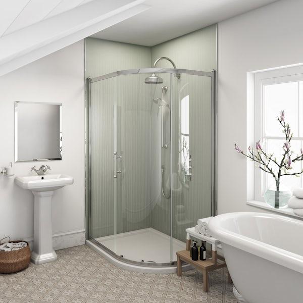 Multipanel Heritage Faversham Linewood unlipped shower wall panel 2400 x 1200
