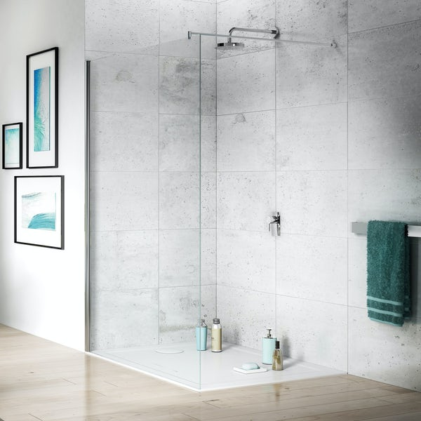 Jacuzzi the Essentials wetroom glass panel 1200mm