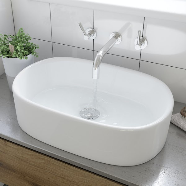 Tate countertop basin with waste