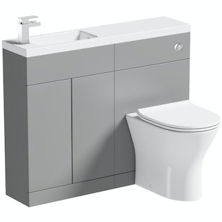 Mode MySpace Slim slate combination with contemporary round toilet