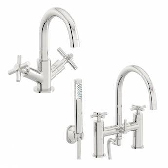 Alexa basin and bath shower mixer tap pack