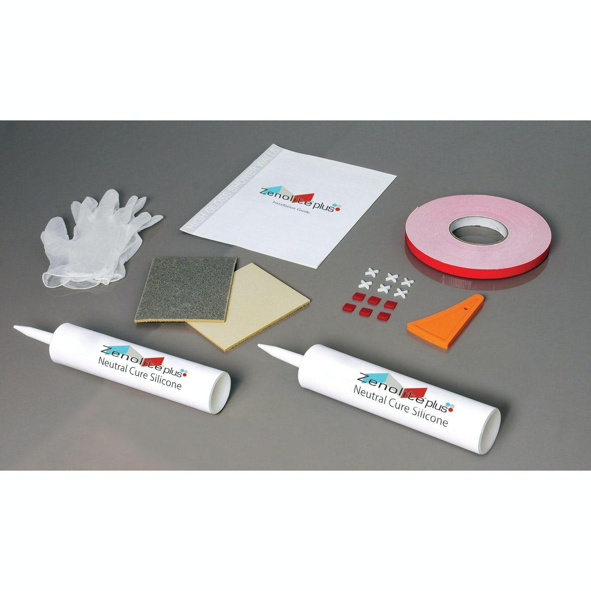 Zenolite plus bathroom fitting kit