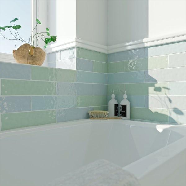 Laura Ashley Artisan seaspray blue wall tile 75mm x 300mm