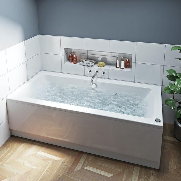Mode Chelsea double end 12 jet whirlpool bath 1800 x 800