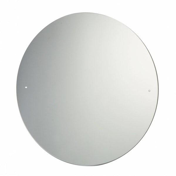 Circular Bevelled Edge Drilled Mirror Diameter 60cm