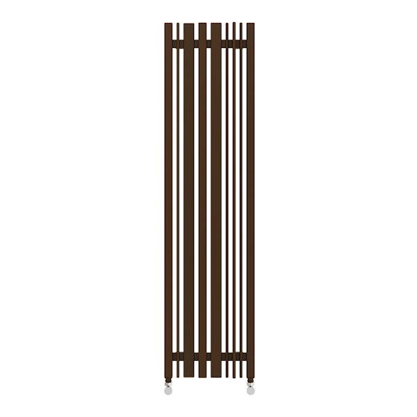 Sherwood terra brown vertical radiator 1300 x 330