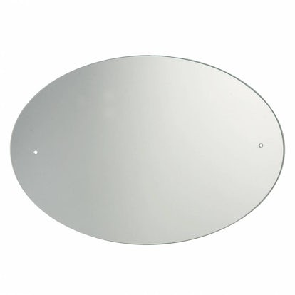 Oval drilled mirror 600 x 450 for Mirror 45 x 60