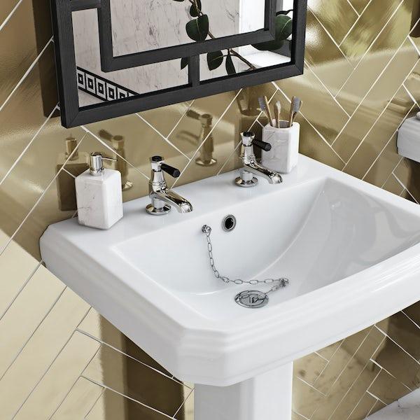 The Bath Co. Beaumont lever basin pillar taps