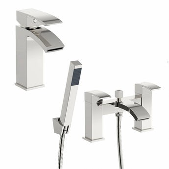Century basin and bath shower mixer tap pack