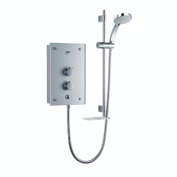 Mira Galena 9.8kw electric shower metallic silver