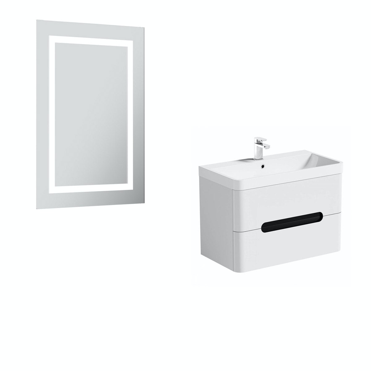 PMode Ellis select essen wall hung vanity unit 800mm and mirror offer