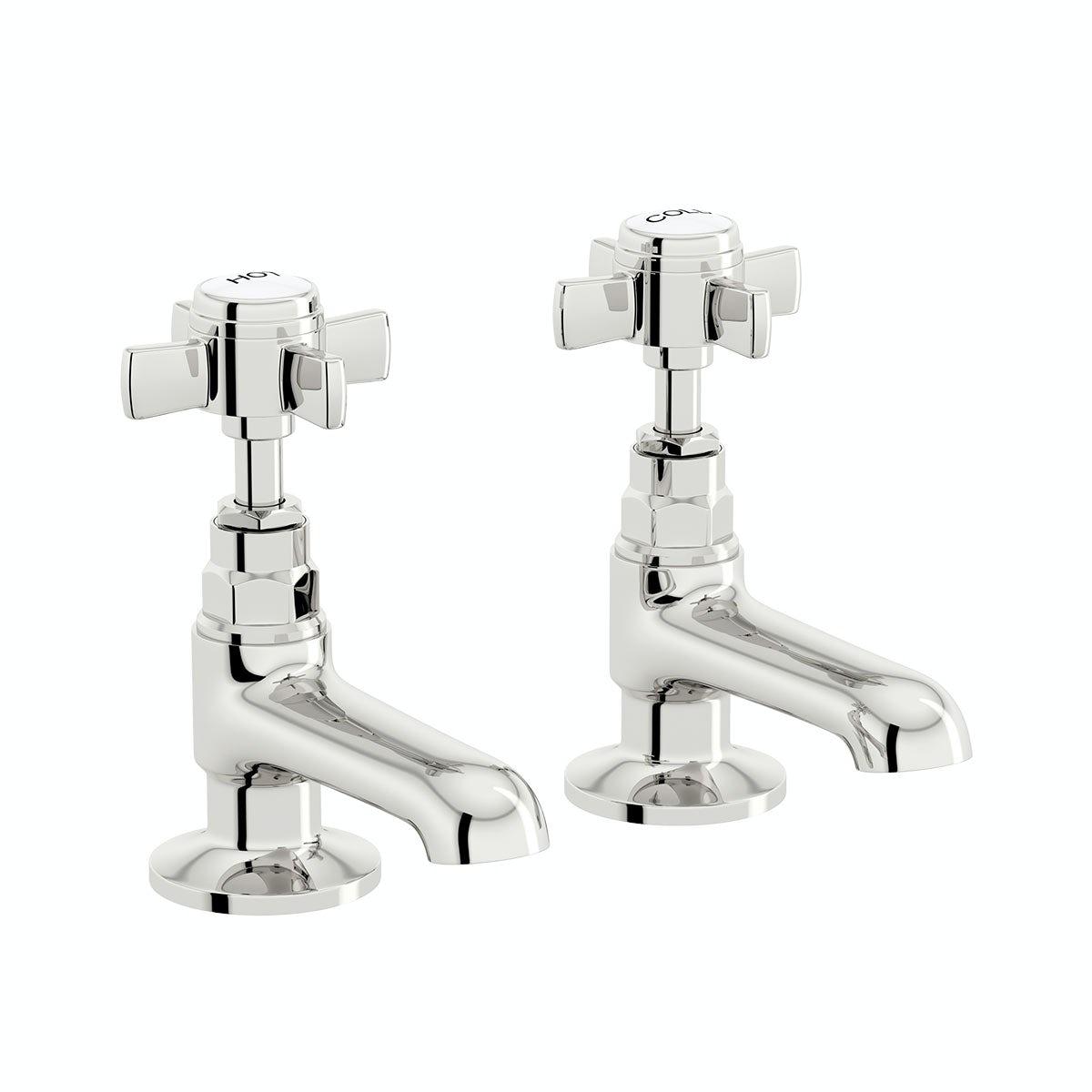 The Bath Co. Dulwich basin pillar taps offer pack