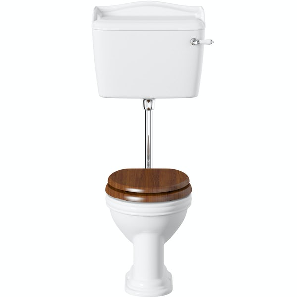 Belle de Louvain Charlet low level toilet and full pedestal suite with chrome fittings