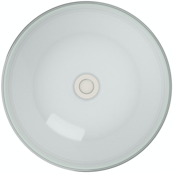 Mode Mackintosh painted white glass countertop basin