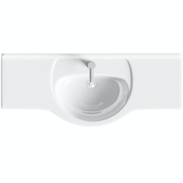 Eden white vanity unit and basin 1200mm