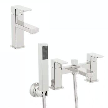 Quartz basin and bath shower mixer tap pack