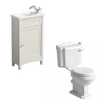 The Bath Co. Camberley ivory cloakroom unit with Winchester close coupled toilet