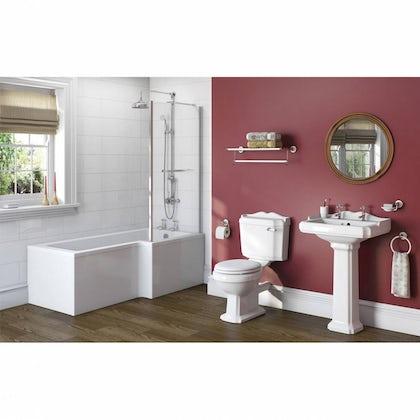 Winchester Bathroom Suite with Boston 1700 x 850 Shower Bath RH