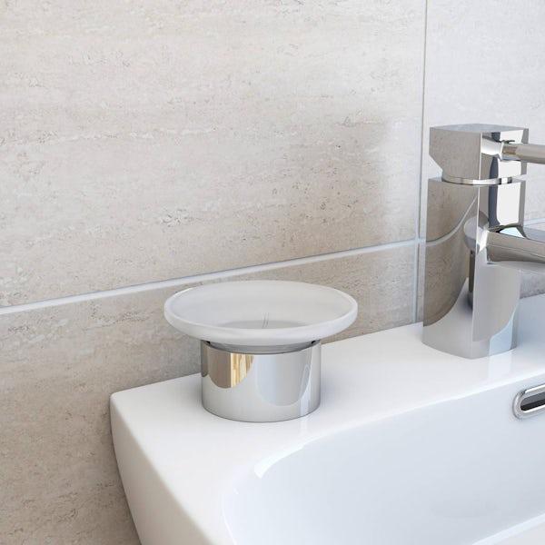 Options Freestanding Glass Soap Dish