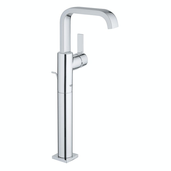 Grohe Allure XL-size side lever basin mixer tap with pop up waste