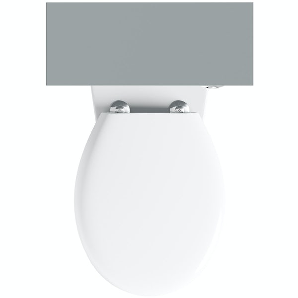 Clarity satin grey back to wall unit and toilet with seat