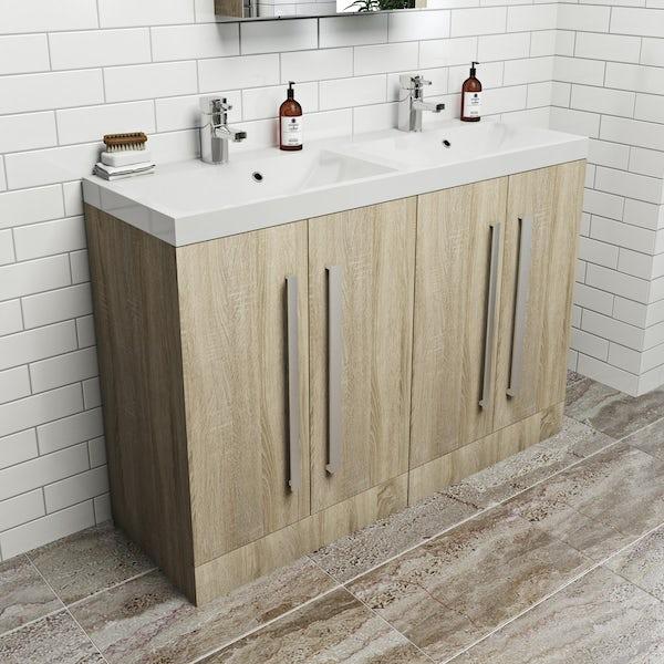 Wye oak double basin unit 1200mm