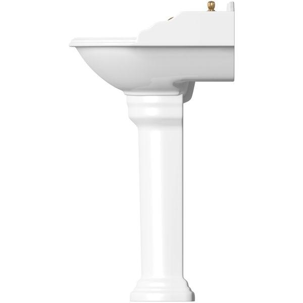 Belle de Louvain Bellini low level toilet and full pedestal suite with incalux fittings