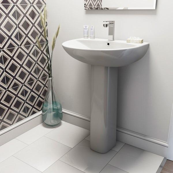 Derwent Round full pedestal basin and installation pack