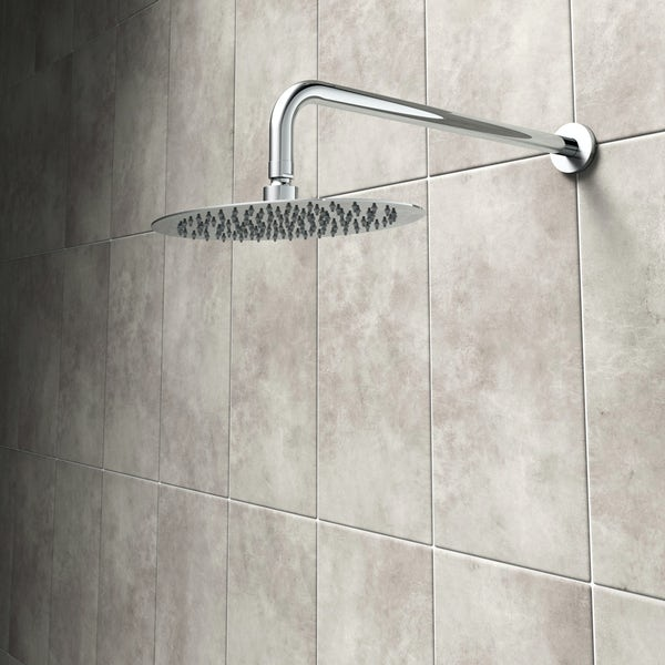 Mode Renzo oval slim stainless steel shower head 300mm