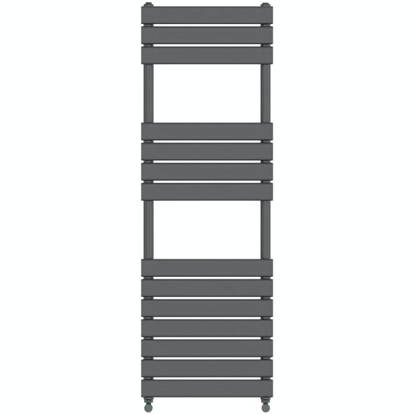 Signelle anthracite heated towel rail 1500 x 500