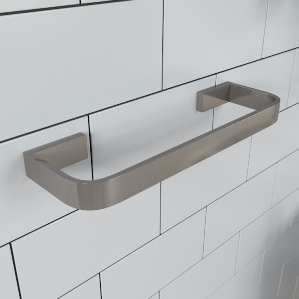 Mode Spencer brushed nickel towel rail