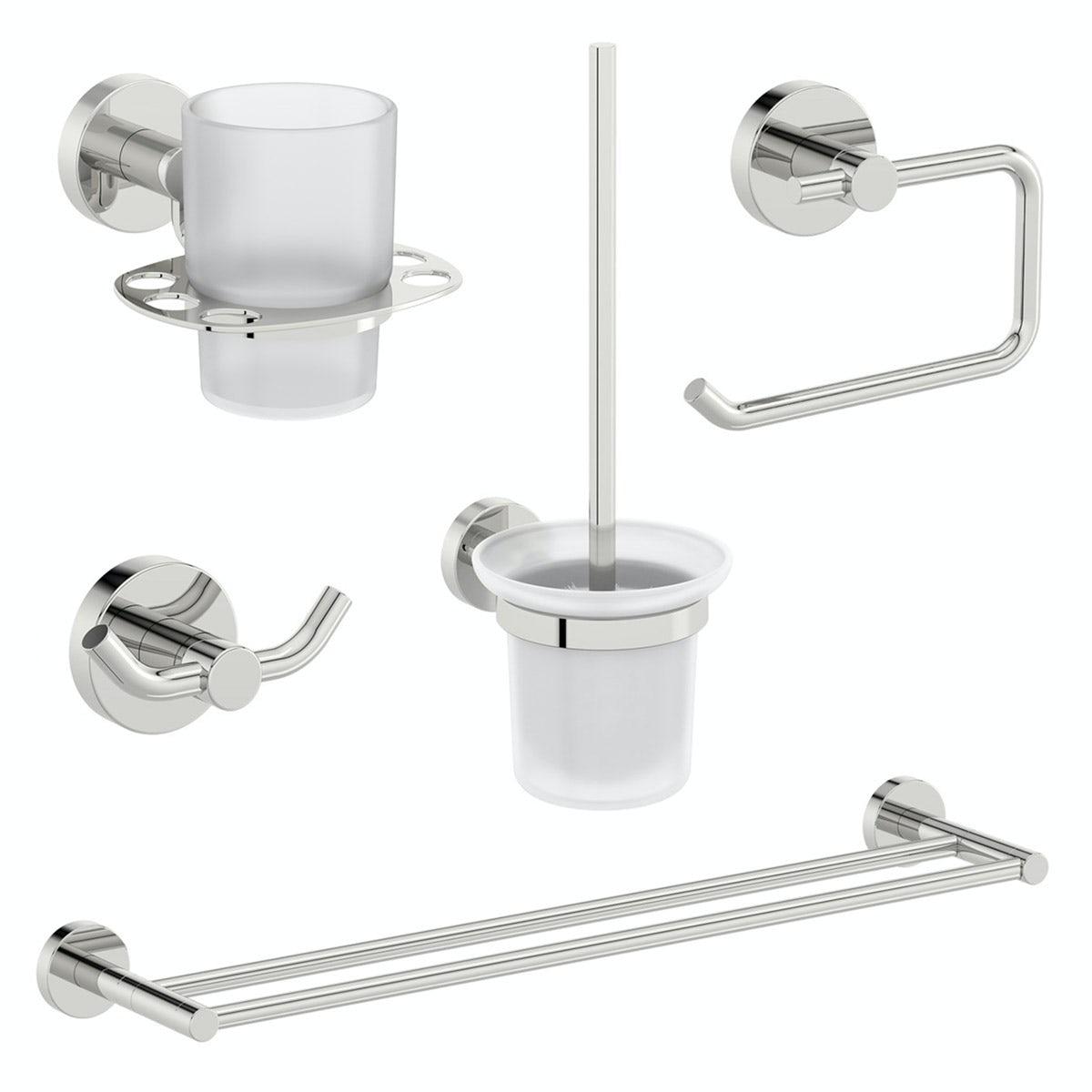 Orchard Eden round master bathroom 5 piece accessory set