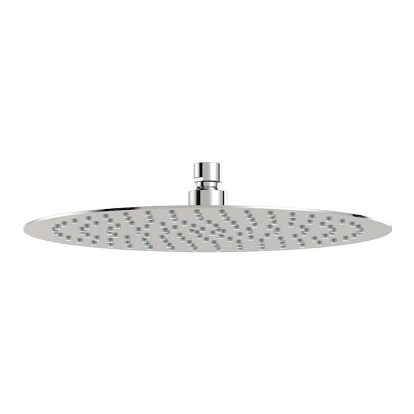 SmarTap white smart shower system with complete round wall shower outlet bath set