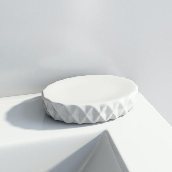 Orchard Geo white soap dish