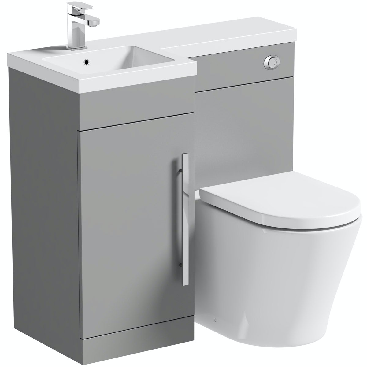 Orchard MySpace grey left handed combination unit with Tate toilet