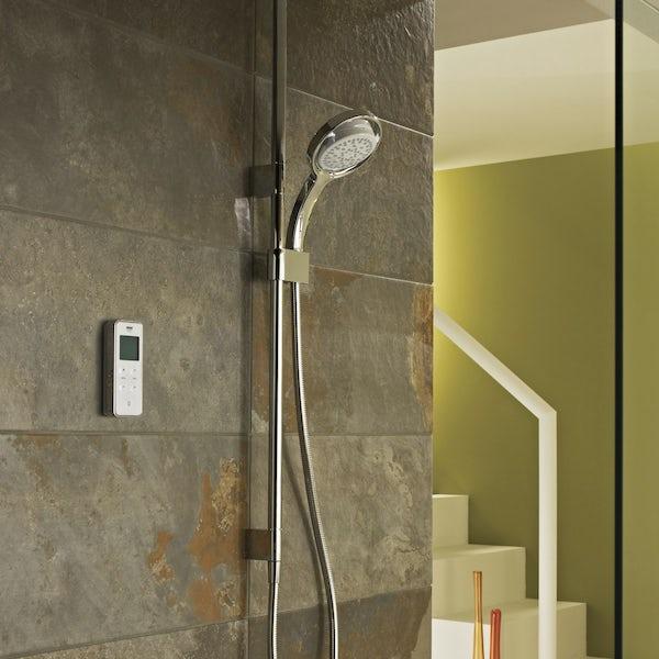 Mira Vision ceiling fed digital shower standard