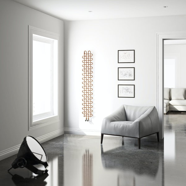 Terma PLC copper vertical radiator 1580 x 263