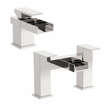 Mode Metro basin and bath mixer tap pack