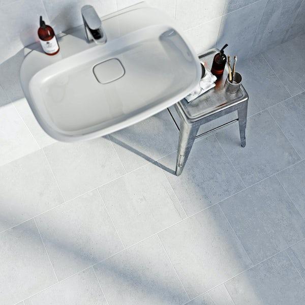 British Ceramic Tile Metropolis light grey matt tile 331mm x 331mm