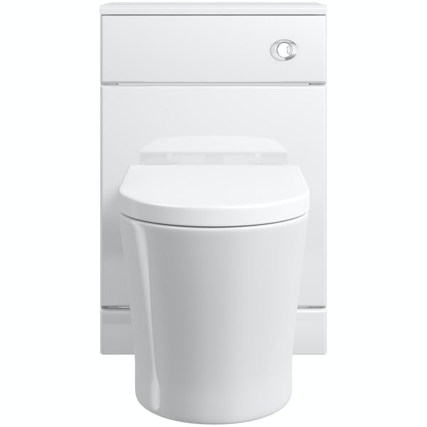 Eden white slimline back to wall unit with Mode Arte toilet
