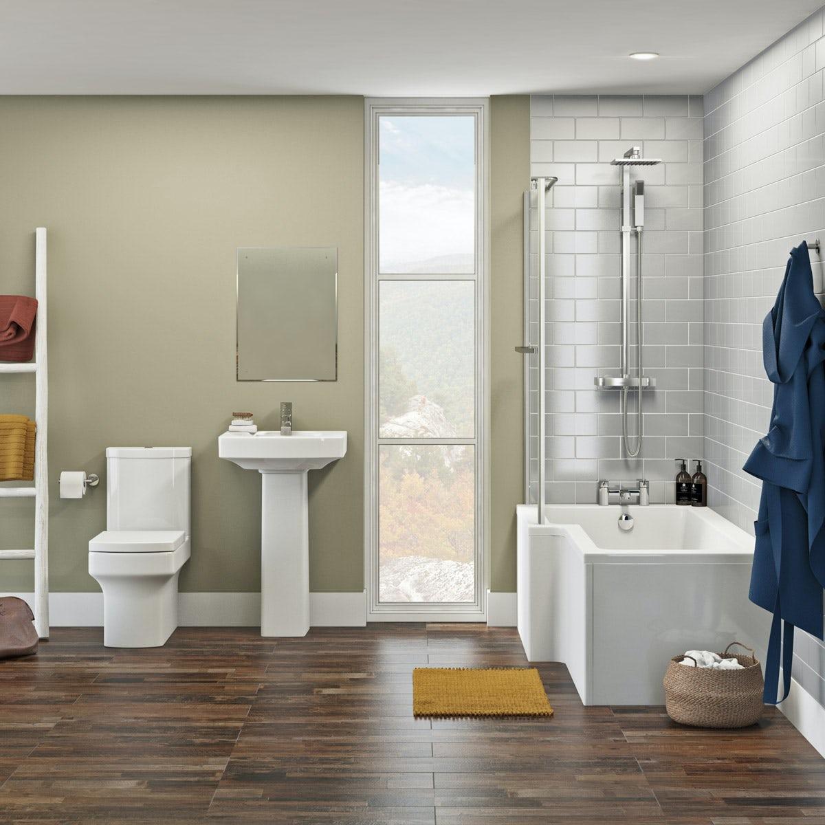 Vermont Complete Shower Bath Suite LH