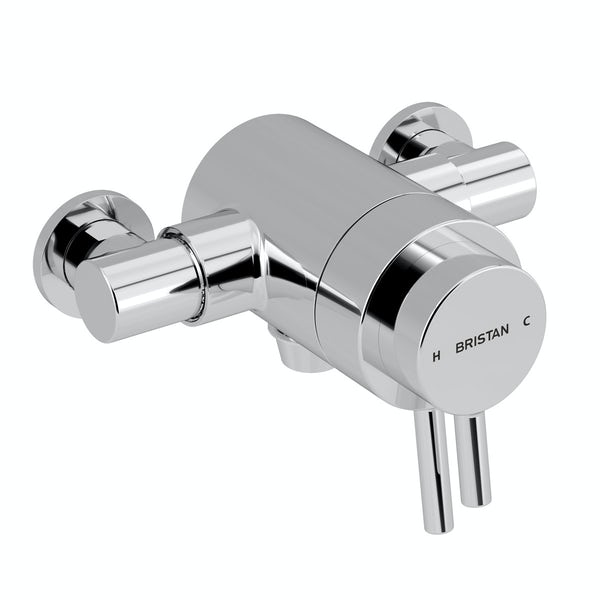 Bristan Prism concentric thermostatic shower valve with slider rail kit