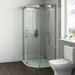 Mode Harrison 8mm easy clean quadrant shower enclosure with white slate effect tray 900 x 900