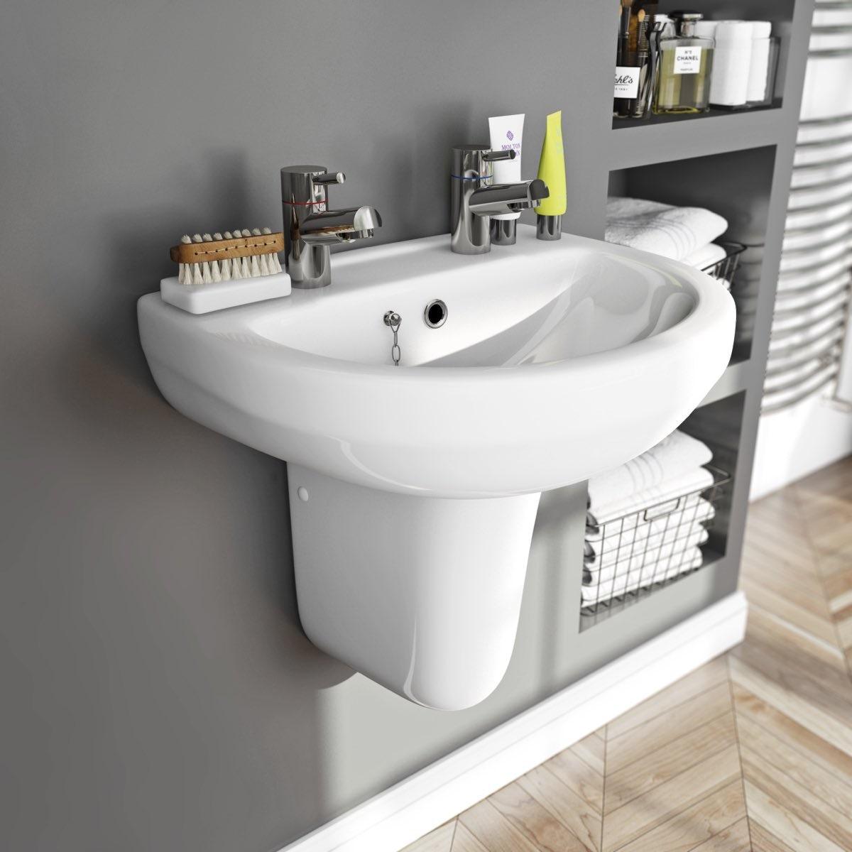 Oakley 550 2TH Basin & Semi Pedestal