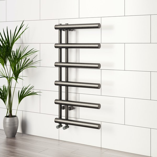 Mode Hardy anthracite heated towel rail 1000 x 500