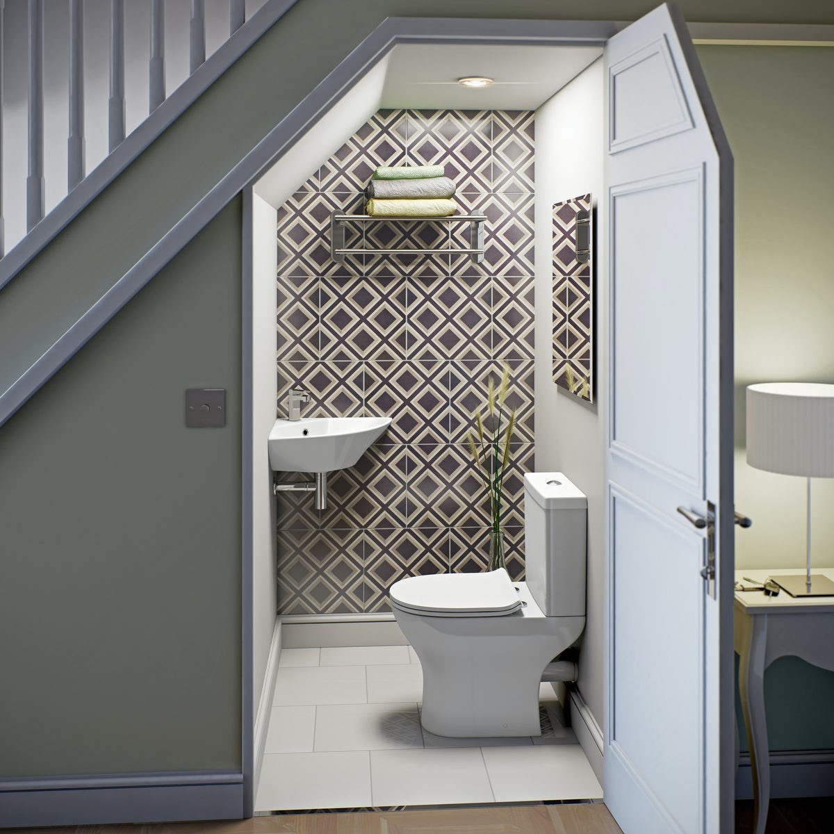 Orchard Derwent Corner Cloakroom Wall Mounted Basin