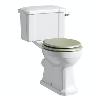 The Bath Co. Camberley close coupled toilet inc sage soft close seat with pan connector