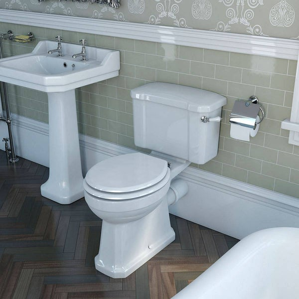 The Bath Co. Camberley close coupled toilet and cloakroom basin suite