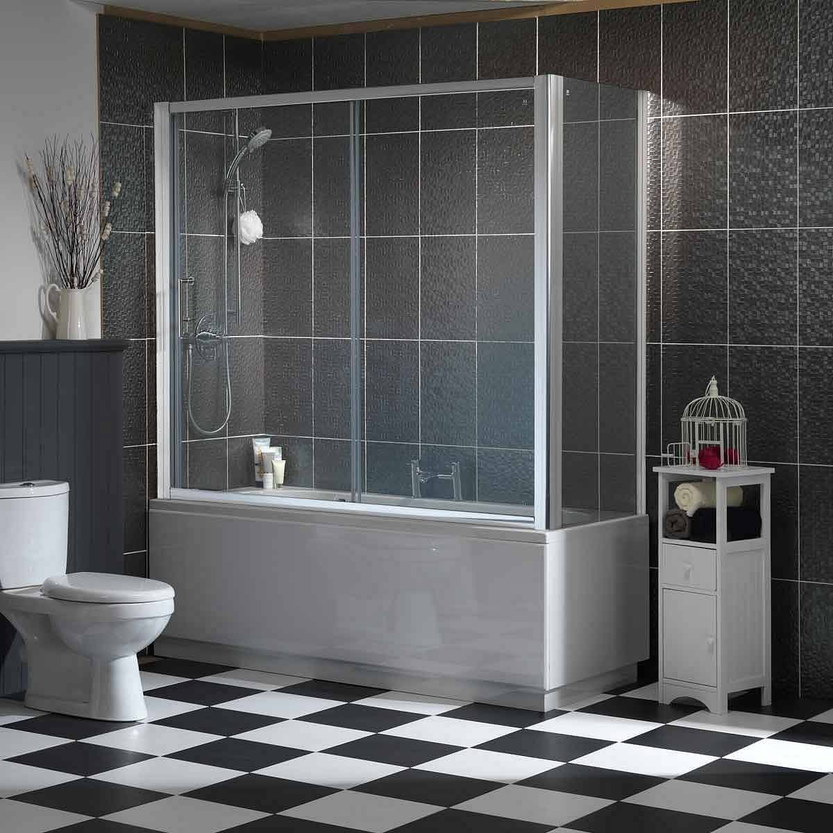 Victoria Plumb Showers >> Overbath Sliding Enclosure 1700 x 750