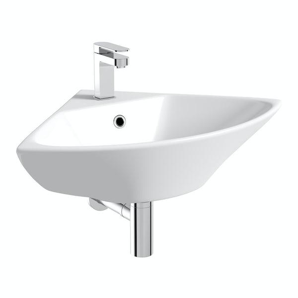 Derwent corner wall mounted basin